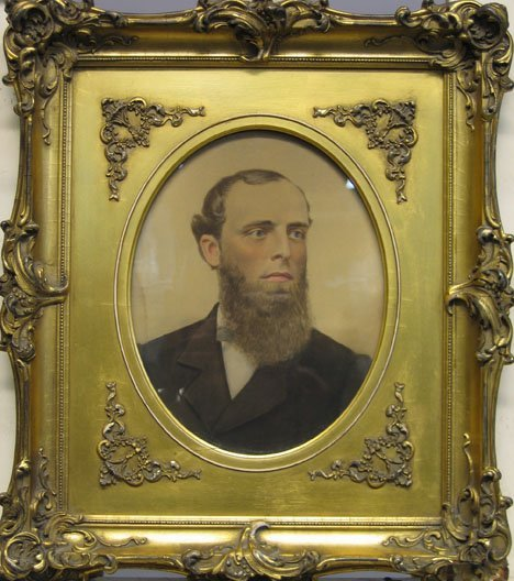 """2432: PORTRAIT OF A MAN, , Inscribed Jeril-May-1887"""" ve"""