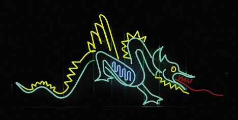 4: Neon Dragon, , Unmounted neon tubing, with a light g