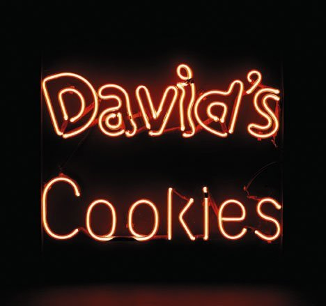 23: David's Cookies neon sign, , Double-sided mounted r