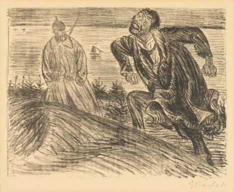 1011: ERNST BARLACH, (GERMAN 1870-1938), SCHLECHTES GEW