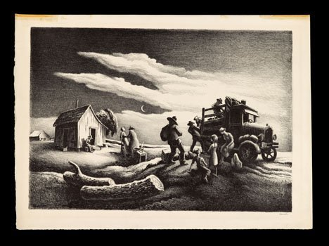 1032: THOMAS HART BENTON, (AMERICAN 1889-1975), DEPARTU