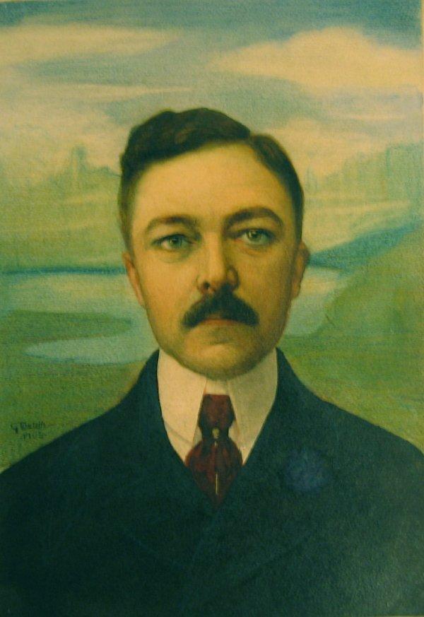 15: G. TOSTETH, (20TH CENTURY), PORTRAIT OF A GENTLEMAN