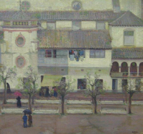 258: A. GROSSO, (SPANISH, 20TH CENTURY), SPANISH STREET