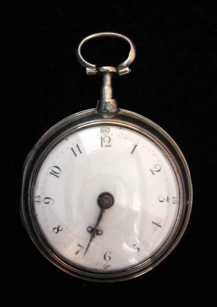 1183: English double cased silver pocket watch by Charl