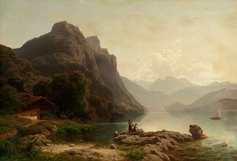 2015: CARL JUNGHEIM, (GERMAN 1830 - 1886), FISHING ON T