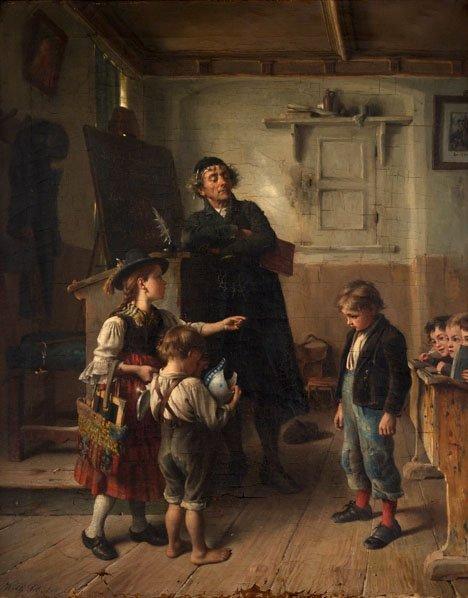 2018: WILHELM SCHÜTZE, (GERMAN 1840 - 1898), THE RECKLE