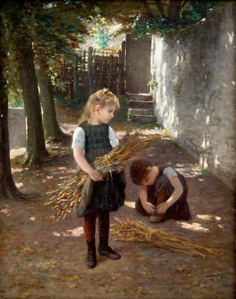 2019: PAUL SEIGNAC, (FRENCH 1826-1904), TYING HER SHOES