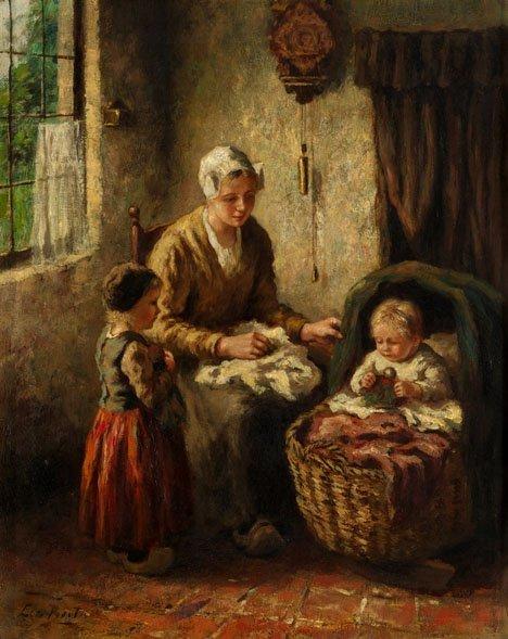 2023: CORNELIS BOUTER, (DUTCH 1888-1966), MATERNAL CARE