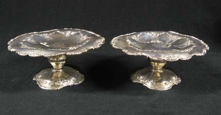 3021: Pair of Gorham sterling silver compotes, early 20