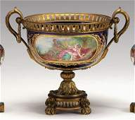 3370: Sèvres style porcelain and gilt bronze mounted ce
