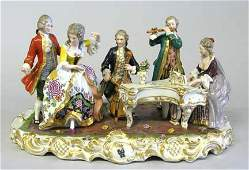 3529: Capodimonte porcelain figural group, early 20th c