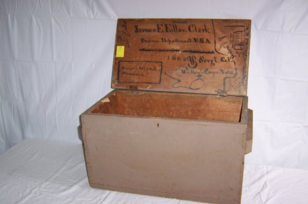 7: Civil War Military Ammunition Box With Provenance Un