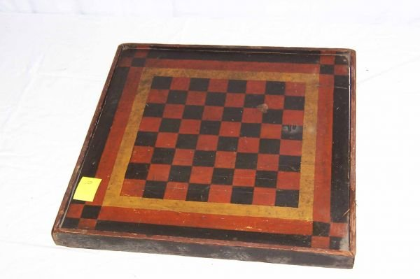 10: Country Store Game Board, Checker Board One Side, R