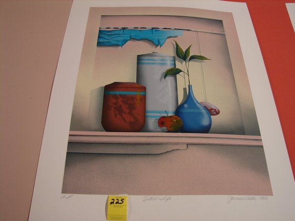 225: James Carter '83, colored lithograph, artist proof