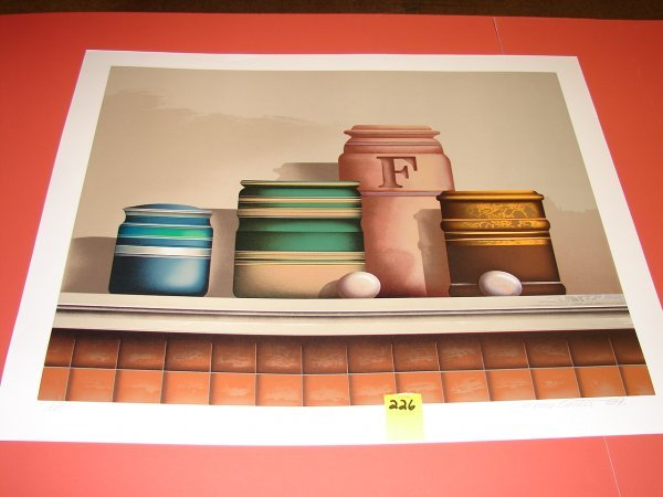 226: James Carter '89, colored lithograph, artist proof