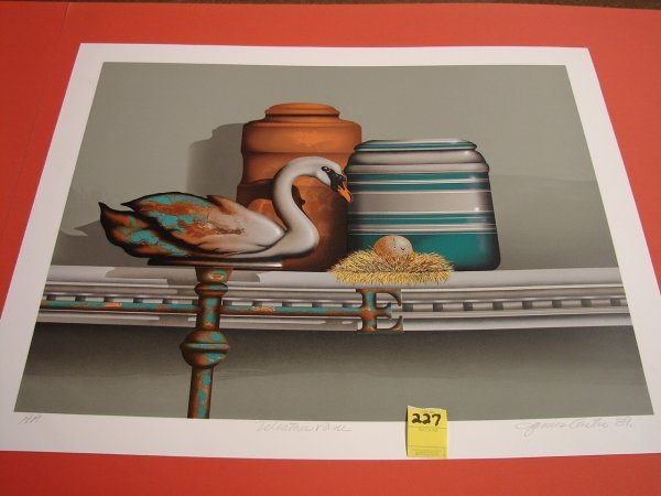 227: James Carter '89 colored lithograph, artist proof,