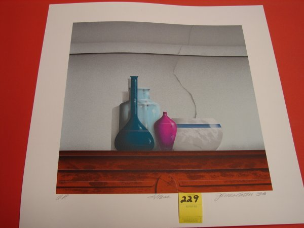 229: James Carter '83 colored lithograph, artist proof,