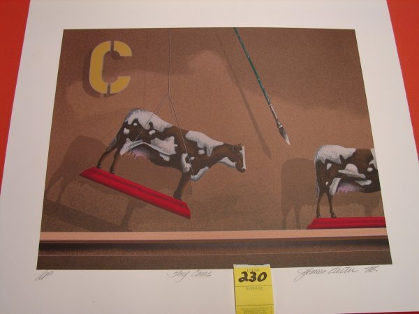 230: James Carter '88, colored lithograph, artist proof