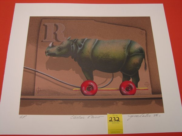 232: James Carter, '86, colored lithograph, artist proo