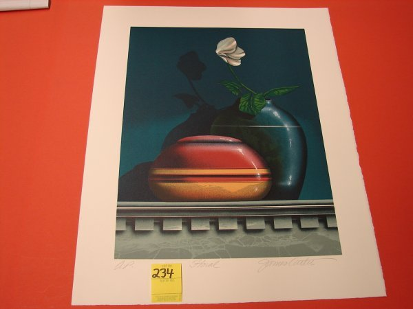 "234: James Carter, colored lithograph, artist proof, ""F"