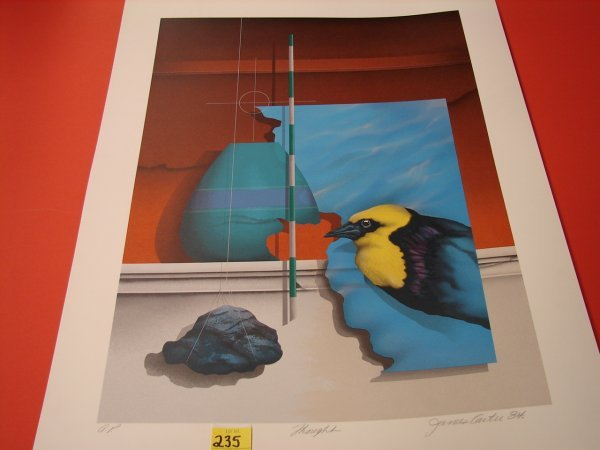 235: James Carter, '84, colored lithograph, artist proo