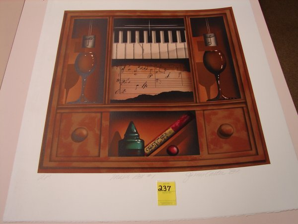 237: James Carter, '87 colored lithograph, artist proof