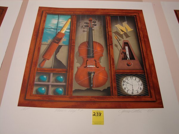 238: James Carter, '87 colored lithograph, artist proof