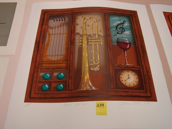 239: James Carter, '87, colored lithograph, artist proo
