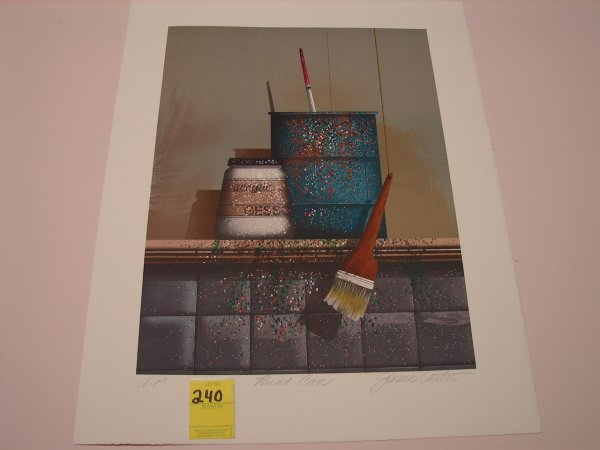 "240: James Carter, colored lithograph, artist proof, ""P"