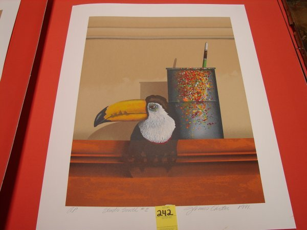 242: James Carter, 1991, colored lithograph, artist pro