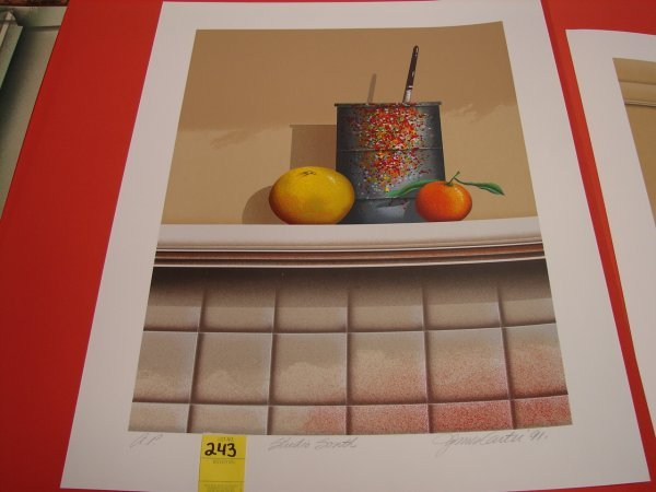 243: James Carter, 1991, colored lithograph, artist pro