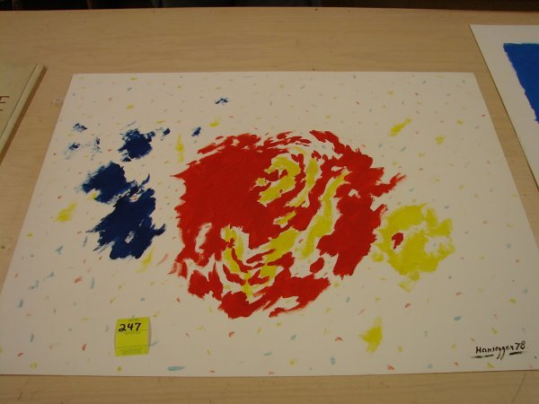 247: John Hansegger, '78, abstract painting, some stain