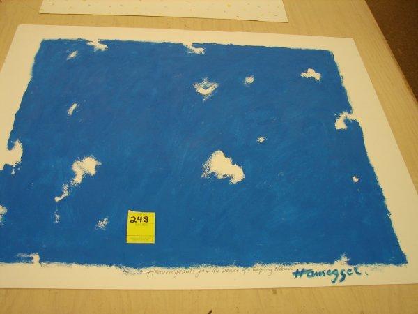 248: John Hansegger, '78, painting, signed lower right,