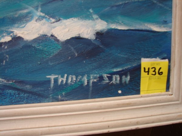 436: Thompson, Ellery Thompson, oil on board, clipper s - 2