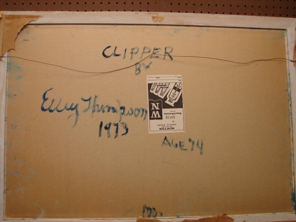436: Thompson, Ellery Thompson, oil on board, clipper s - 3