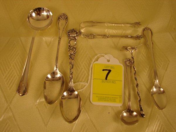 7: Lot of sterling silver demitasse spoons, 2 teaspoons