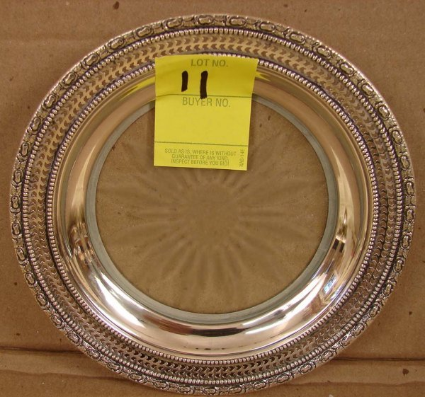 11: Sterling Dish, Frank Whiting & Co., etched glass, 4