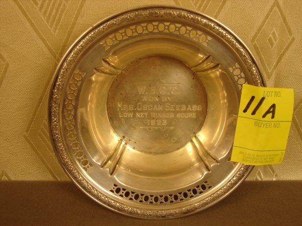 "11A: Sterling trophy bowl, A11842, ""Low Net Ringer Scor"