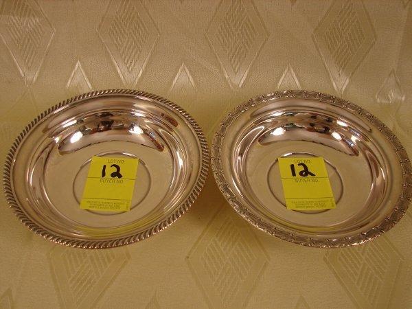 "12: 2 Gorham Sterling bowls, 3.3 oz each, 5.75"" dia."