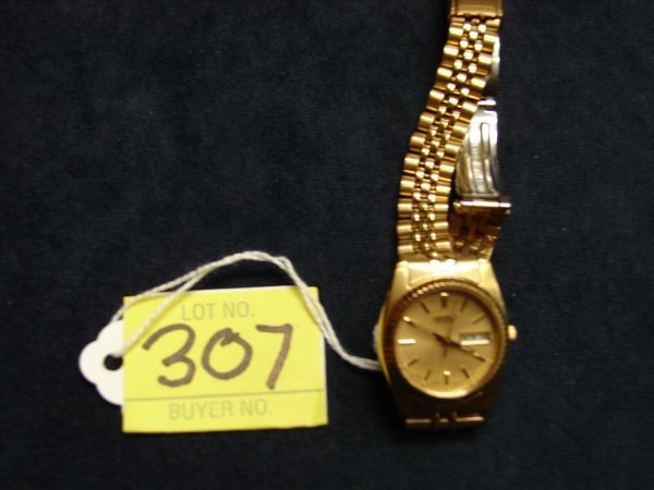 307: Seiko Wrist Watch, ladies, gold color, gold color