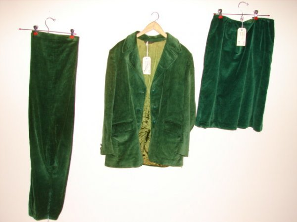 601: 3 pc. Green Corduroy Suit by Austin Hill Wendell,