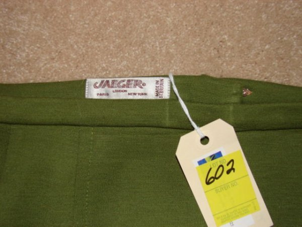 602: Skirt by Jaeger, Made in Great Britain, green