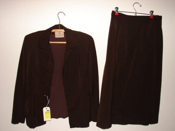 610: Suit by R.H. Stearns & Co., Boycoff, brown jacket