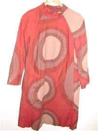 718: Dress, Marimekko, Made in Finland, brown