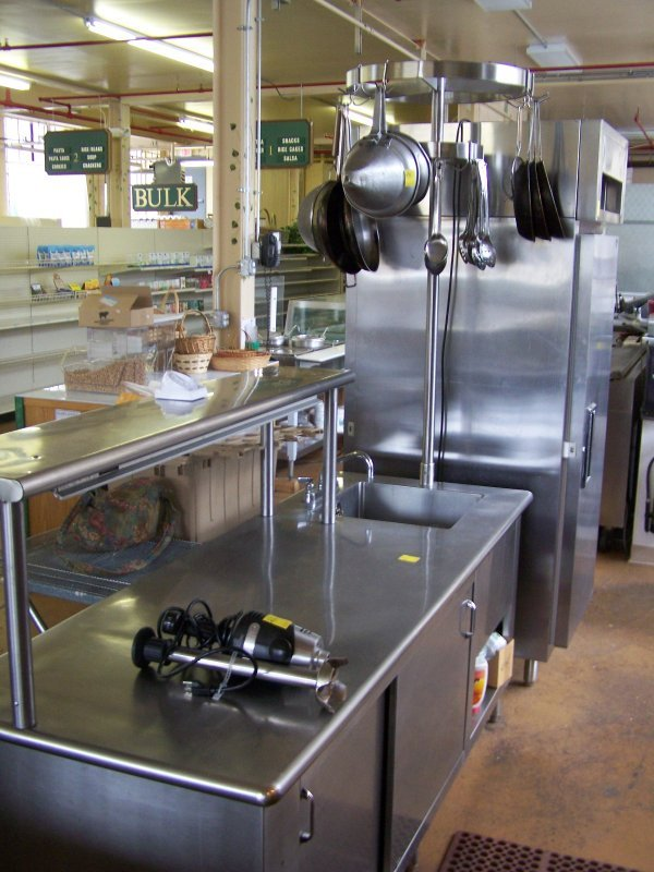 1019: Stainless Steel Work Station w/ Food Warmer, Top