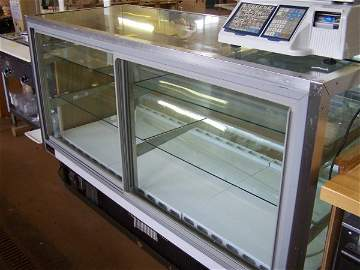 1035: Glass Deli Display Case,  Self Contained Refriger