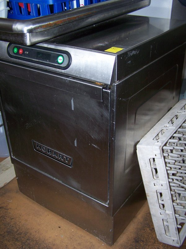 1051: Hobart Dishwasher, Under counter Stainless Steel
