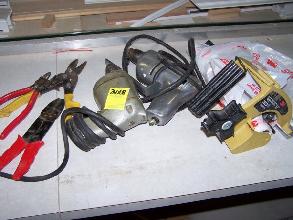 2008: Lot Of Hand Tools, (2) Corded Drills, 3M Dispense