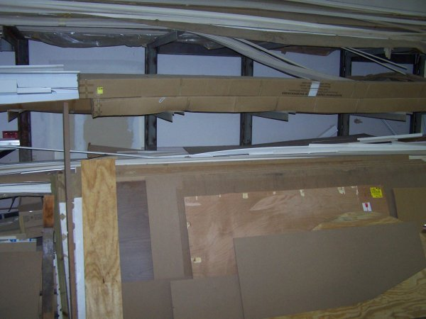 2020: Contents Of Cantilever Shelf, Masonite Board, Pla