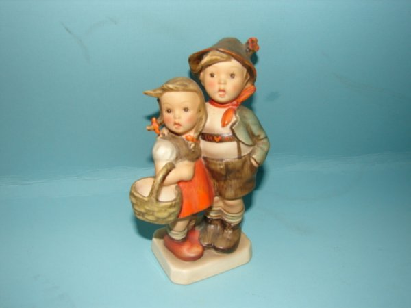 "3061: Hummel Figurine, ""Surprise,"" V with full Bee, mol"